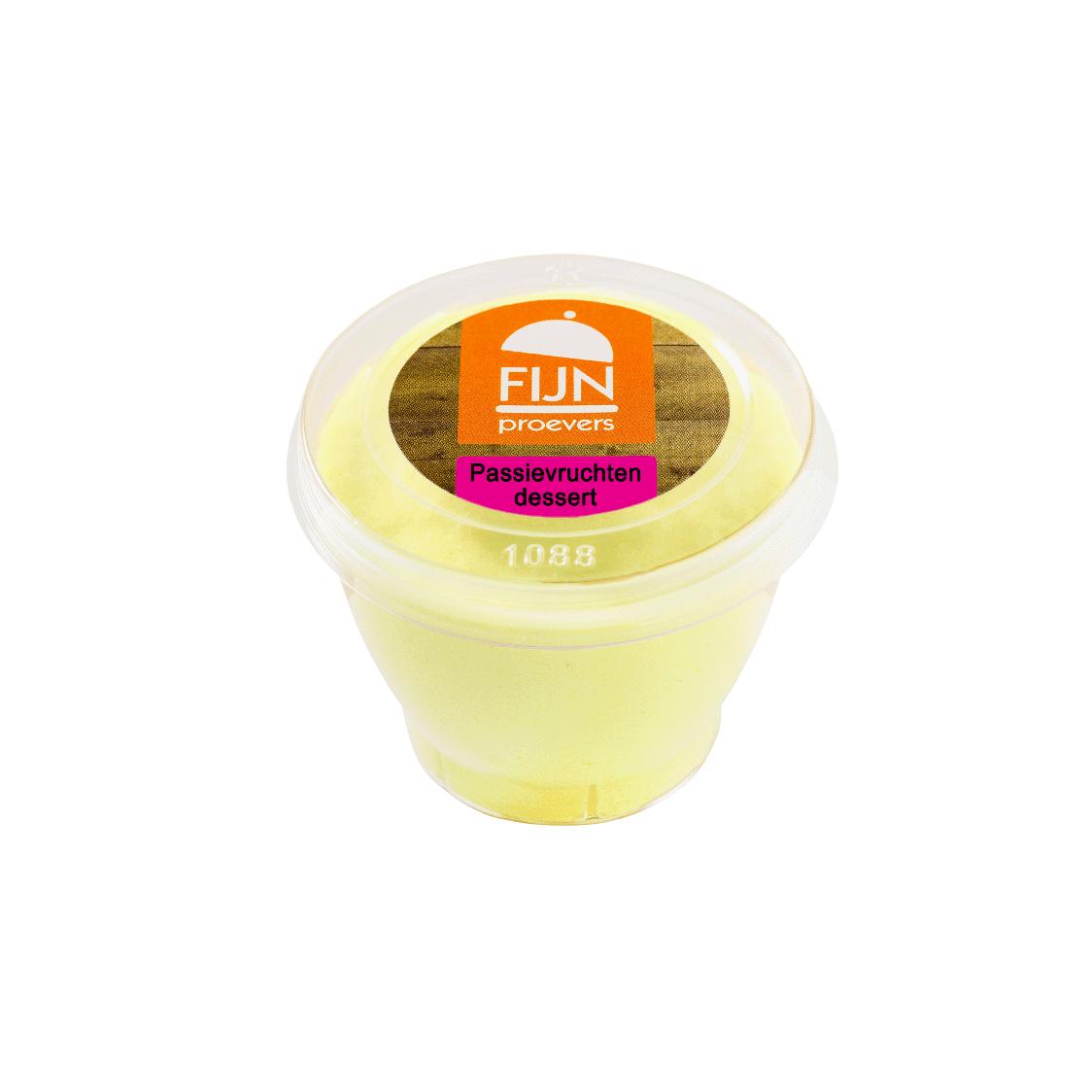 Passievruchten dessert voor slikproblemen eiwitverrijkt van fijnproevers productfoto