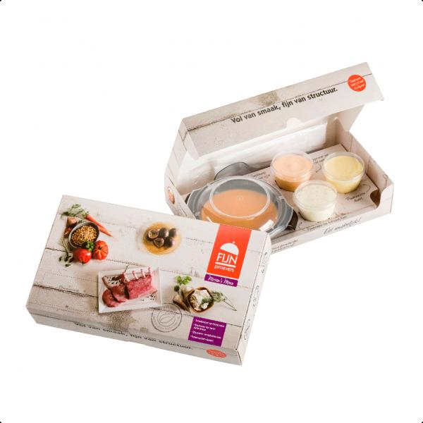 Miriams menu voor slikproblemen eiwitverrijkt van fijnproevers productfoto