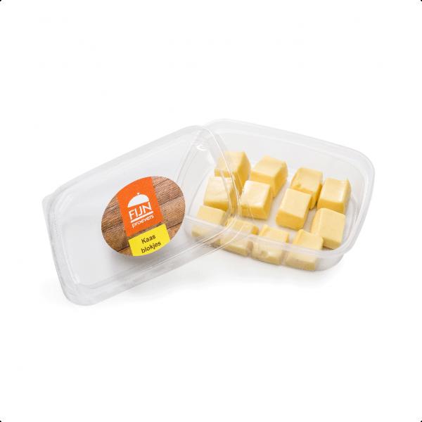 Snacks kaasblokjes voor slikproblemen eiwitverrijkt van fijnproevers productfoto