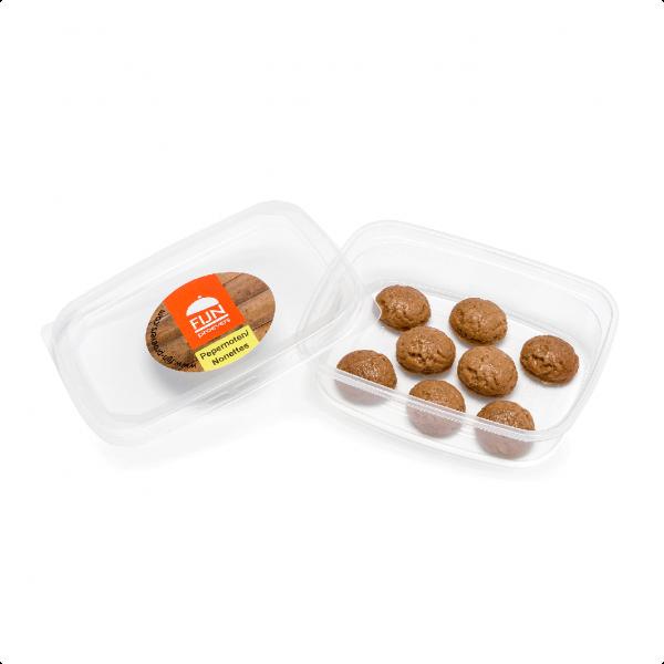 Snacks pepernoten voor slikproblemen eiwitverrijkt van fijnproevers productfoto