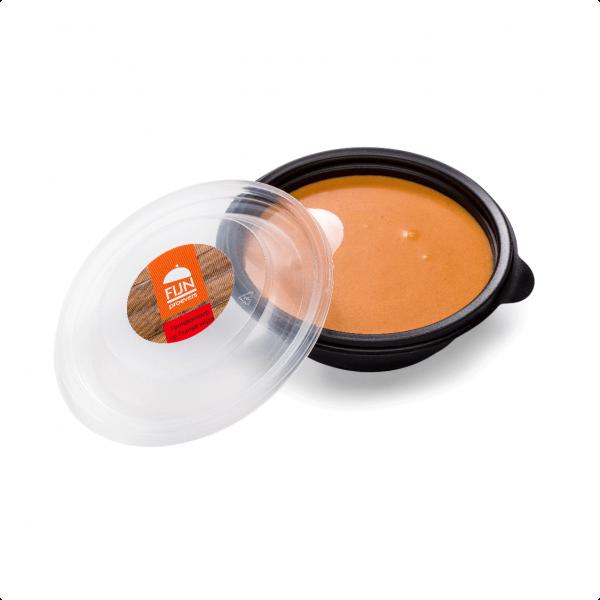 Franse tomatensoep voor slikproblemen eiwitverrijkt van fijnproevers productfoto