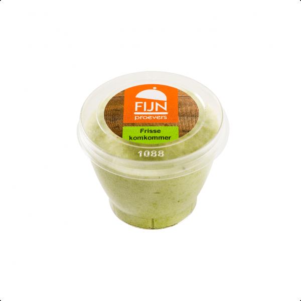 Tussendoortje komkommer mousse voor slikproblemen eiwitverrijkt van fijnproevers productfoto