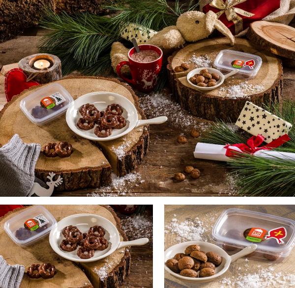 Pepernoten en chocolade kransjes voor mensen met kauw- en slikproblemen voor de feestdagen.
