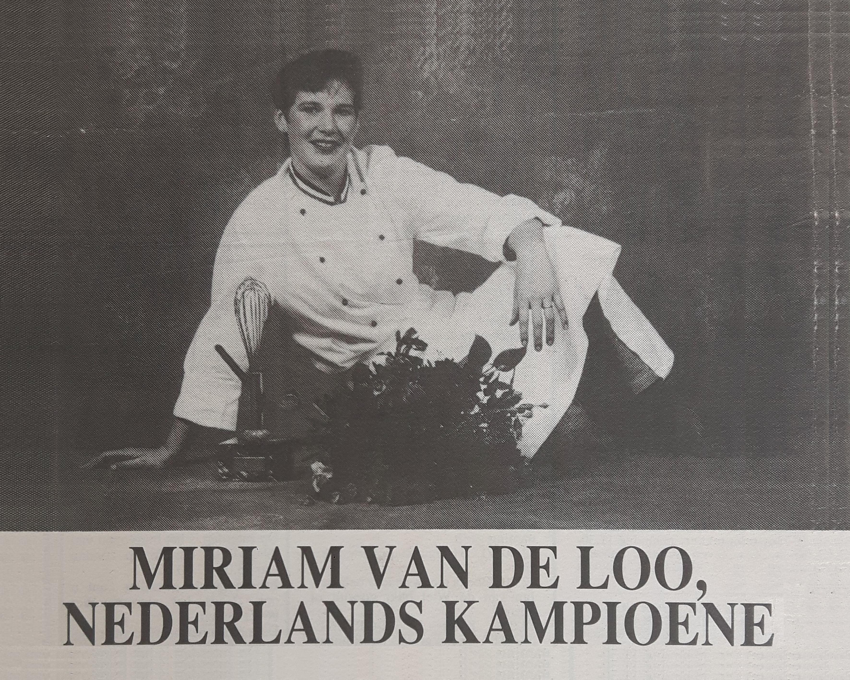 Miriam van der Loo Nederlands Kampioen Patissier 1994